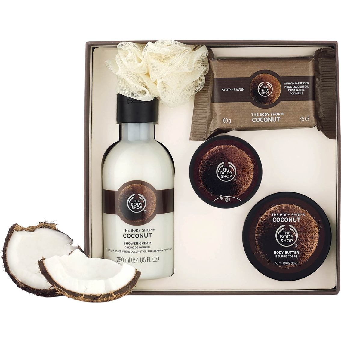 5ac16fe056 The Body Shop Coconut Essential Collections Bath And Body Gift Set ...