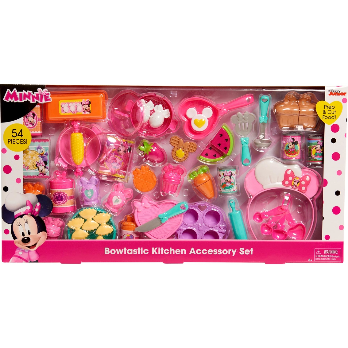 Minnie Mouse Play Kitchen: Disney Minnie Mouse Bowtastic Kitchen Accessory Set