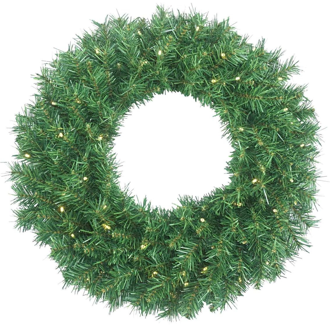 Pre Lit Le Pine Wreath