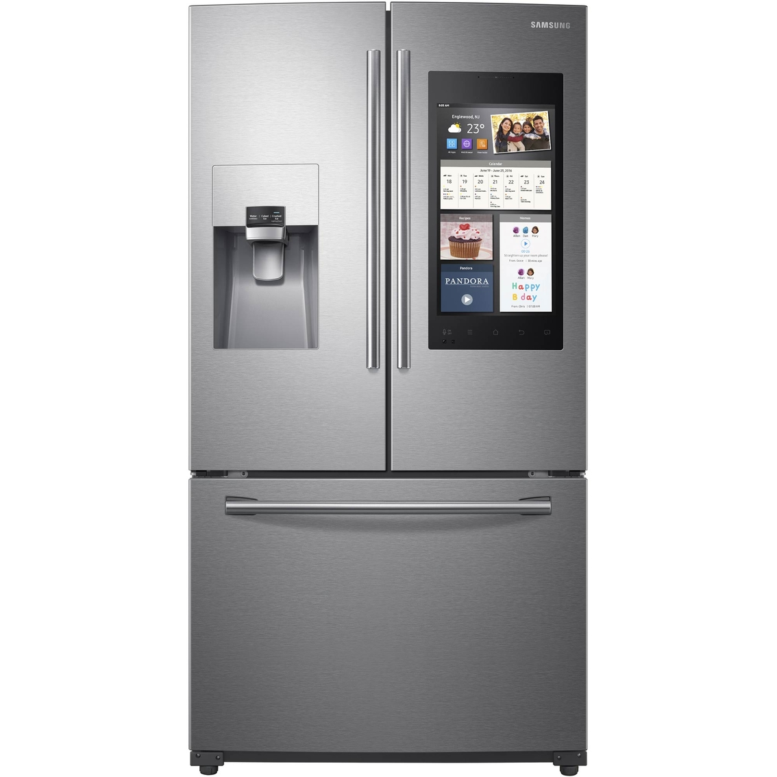 Samsung 24 Cu. Ft. French Door Refrigerator With Family Hub ...