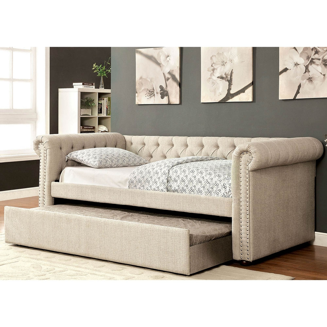 furniture of america leanna daybed with trundle beds home