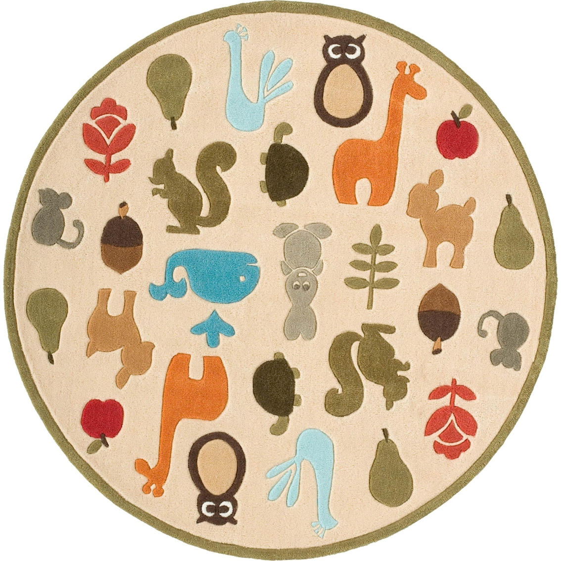 Momeni Lil Mo Whimsy Critters 5 Ft Round Rug Rugs Home