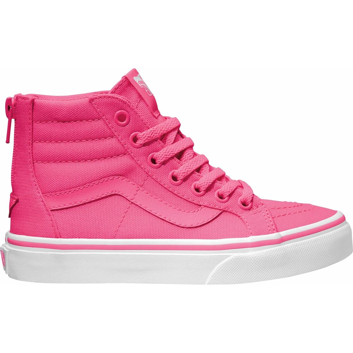 a50c37203d Vans Girls Sk8 Hi Zip Shoes