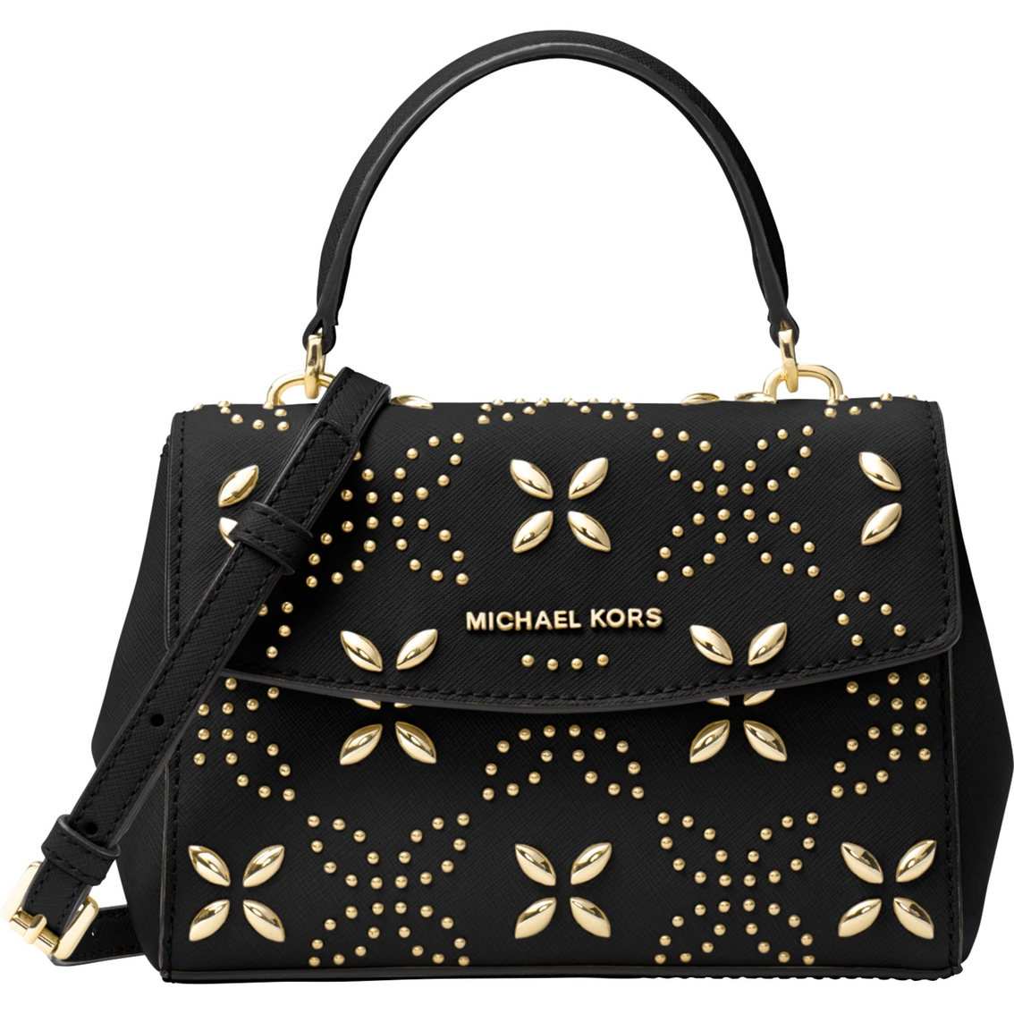 Michael Kors Ava Floral Stud Extra Small Crossbody | Handbags | Apparel | Shop The Exchange