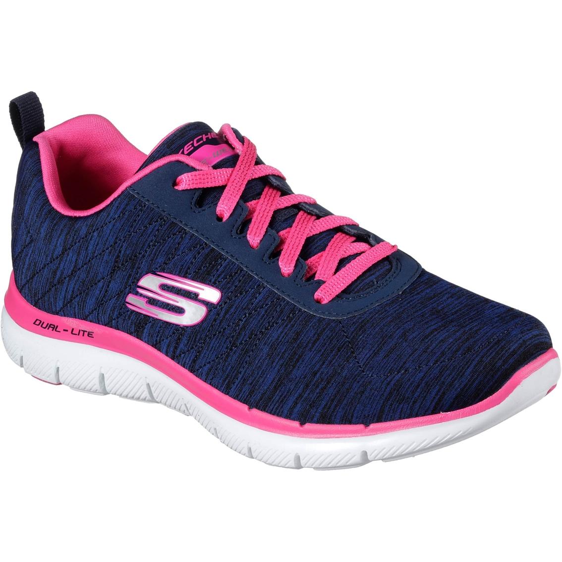 94d8fb591eeb Skechers Sport Women s Flex Appeal 2.0 Jersey Mesh Sneakers