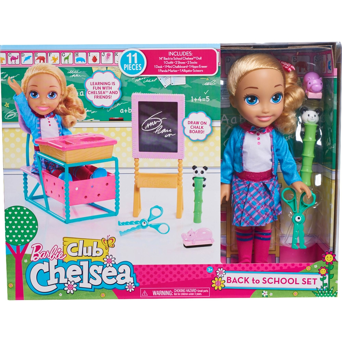 Barbie Club Chelsea Back To School Set Doll Playsets Baby Toys