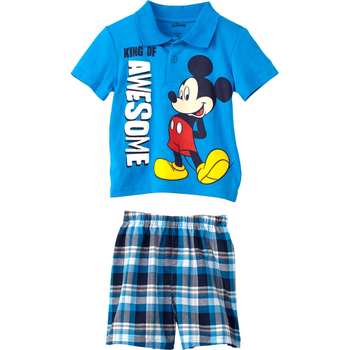 ba4e7d15c0934 Disney Toddler Boys 2 Pc. Mickey Mouse Polo Shirt And Shorts Set ...