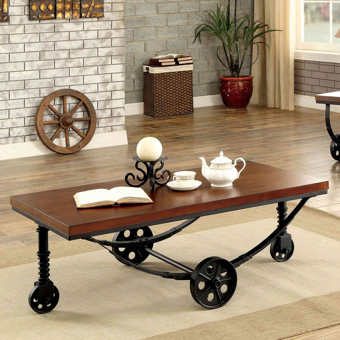 Furniture Of America Coffee Table With Wheels | Living ...