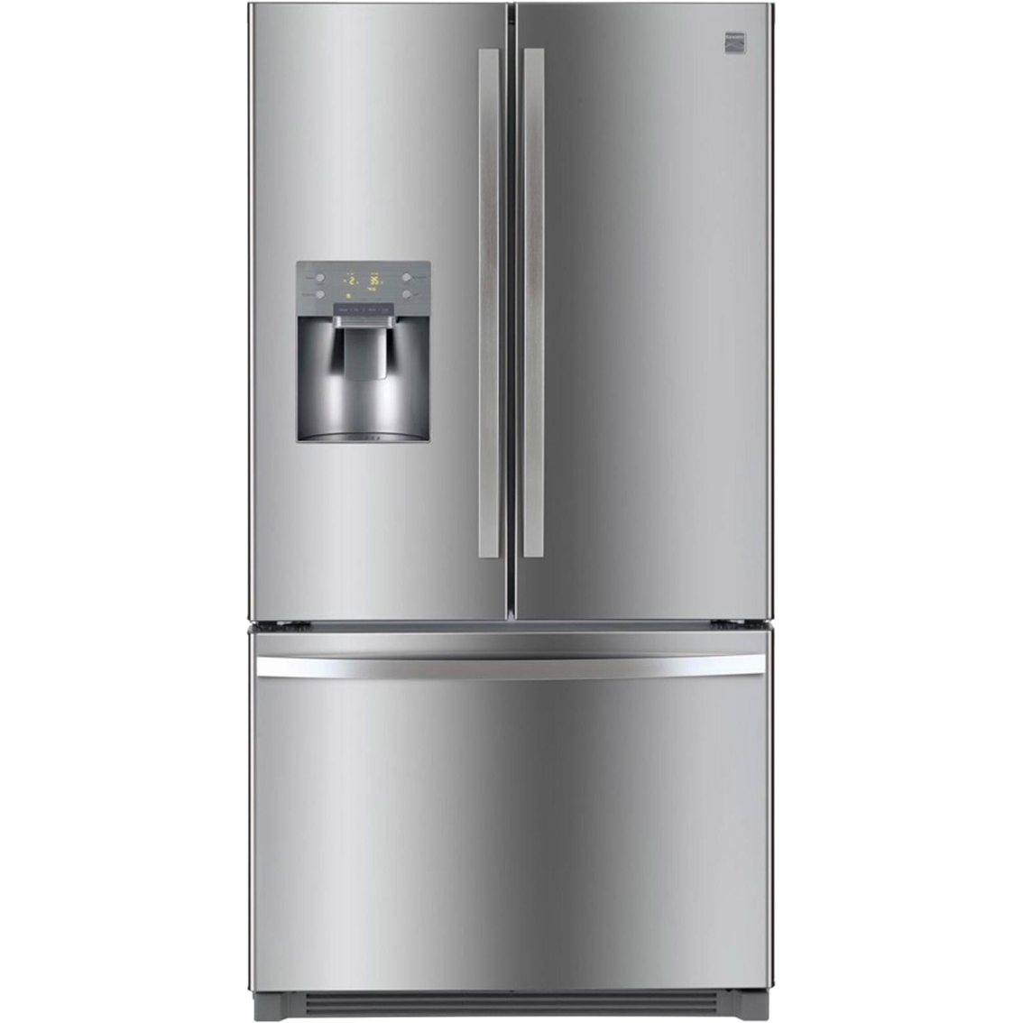 kenmore black refrigerator. kenmore 25.6 cu. ft. french door stainless steel refrigerator with bottom freezer black