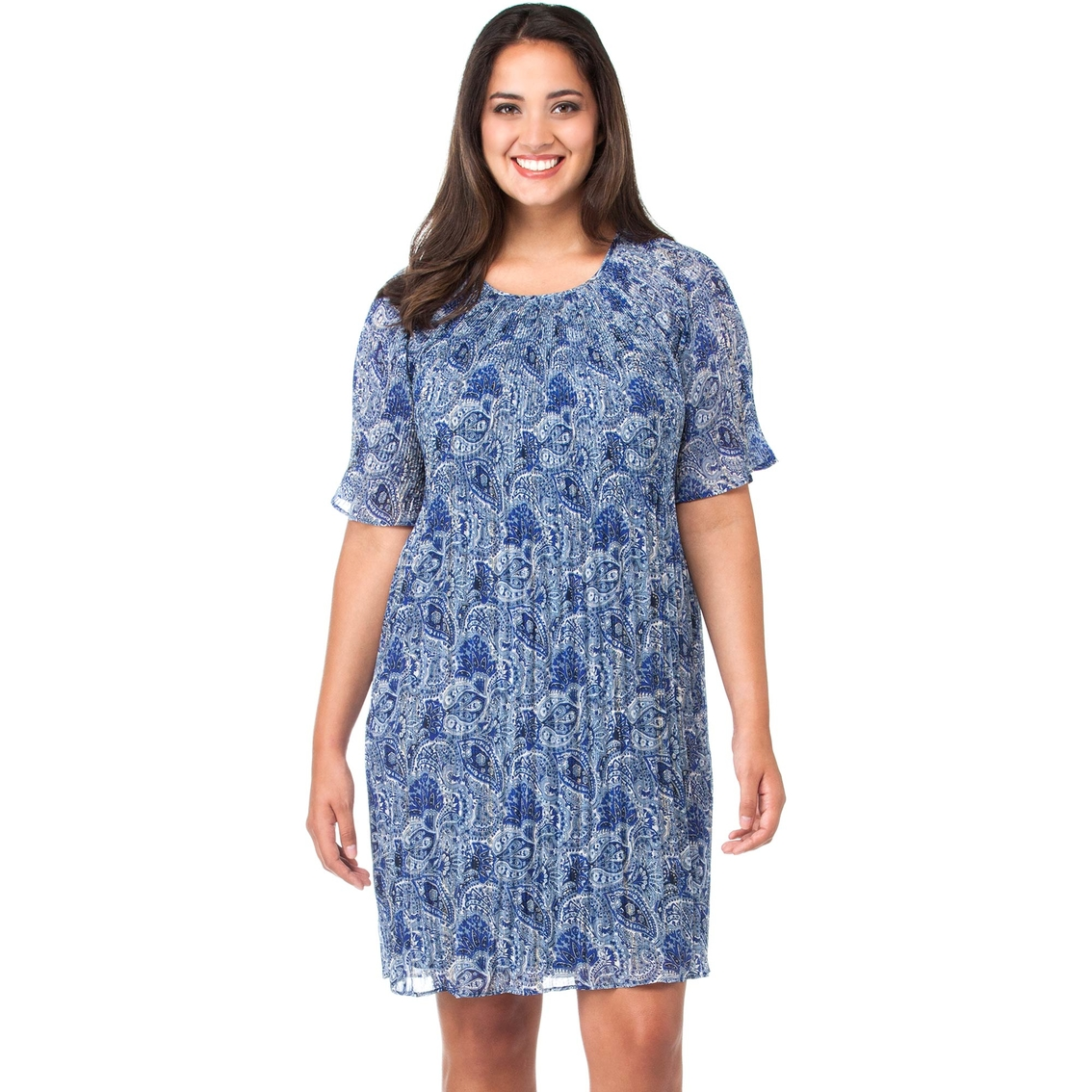 Michael Kors Plus Size Kinley Pleated Dress   Dresses ...