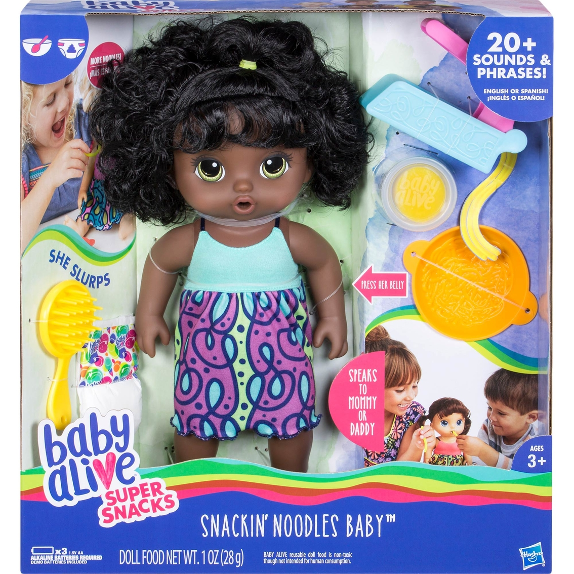 Baby Alive Super Snacks Snackin Noodles Baby African