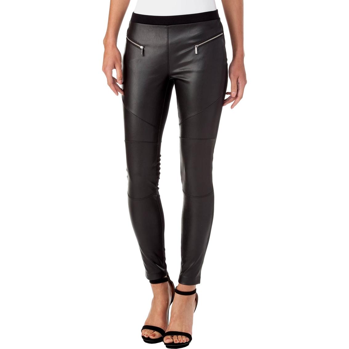 e920b2f4b5645b Michael Kors Faux Leather Front Moto Legging | Apparel | Shop The ...