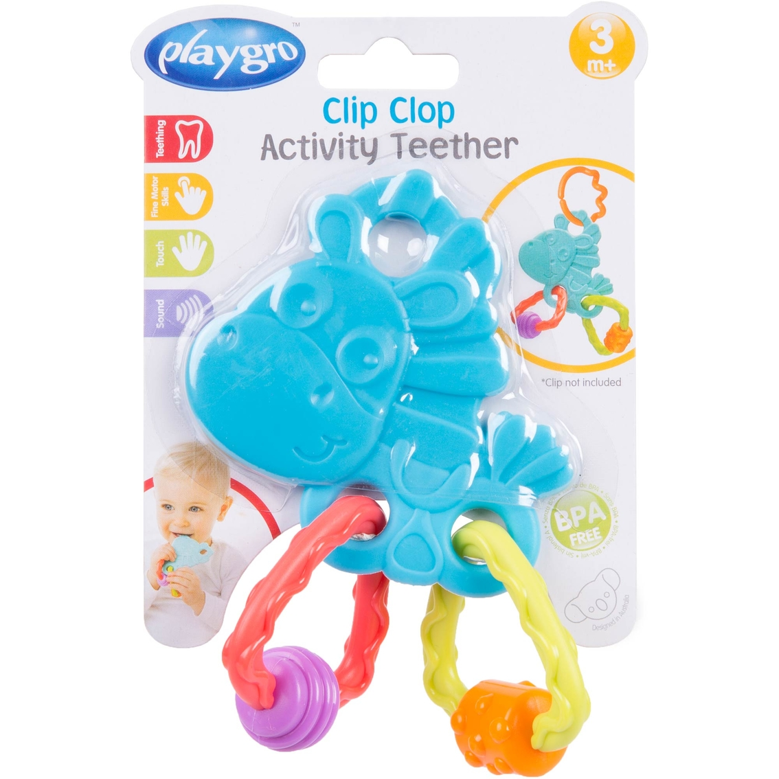 Playgro Clip Clop Activity Teether | Pacifiers & Teethers | Baby ...