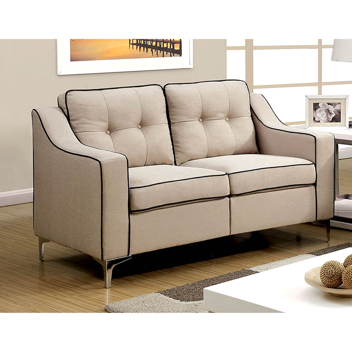 Furniture of america glenda loveseat sofas couches for Furniture exchange