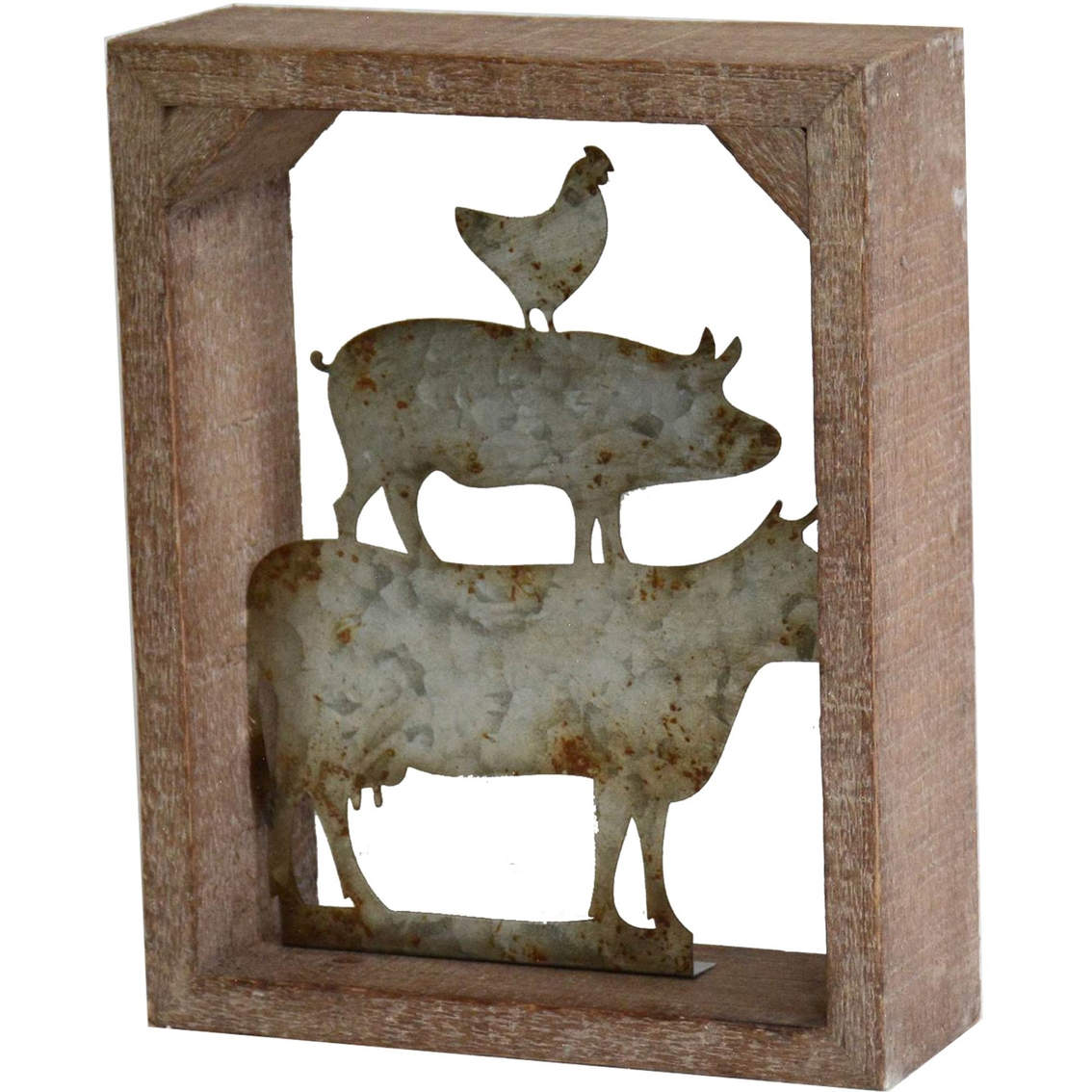 Animal Home Decor: Simply Perfect Rustic Metal And Wood Farm Animals Wall