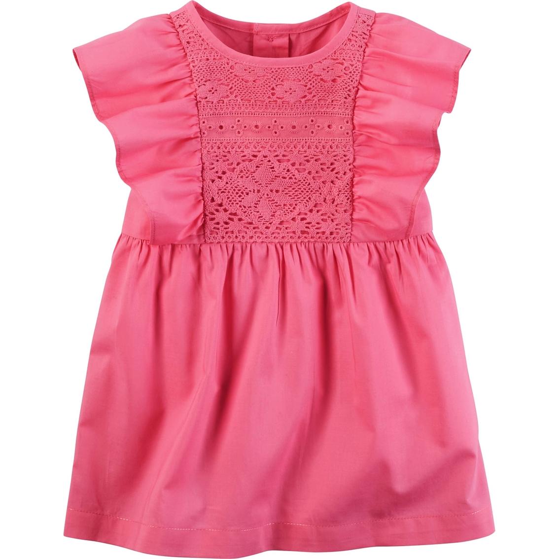 a2a42c7eb Carter's Infant Girls Ruffle Sleeve Dress   Baby Girl 0-24 Months ...