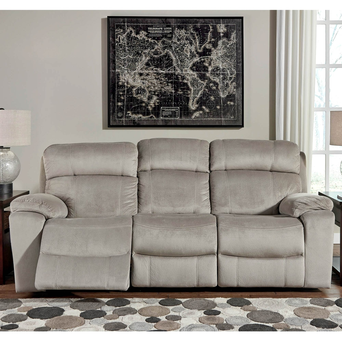 Ashley Uhland Power Reclining Sofa With Power Adjusting