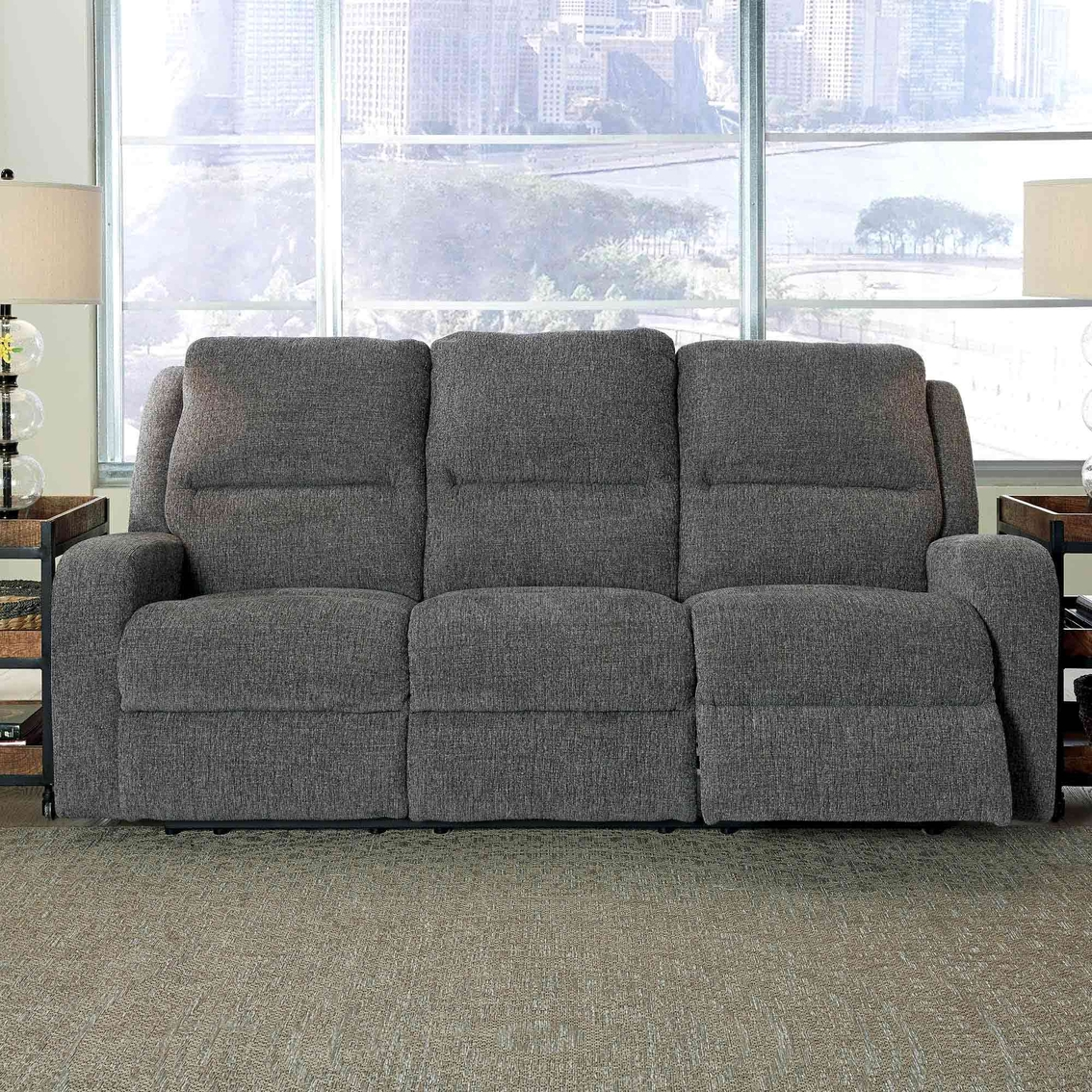 Super Ashley Krismen Power Reclining Sofa With Power Adjusting Evergreenethics Interior Chair Design Evergreenethicsorg