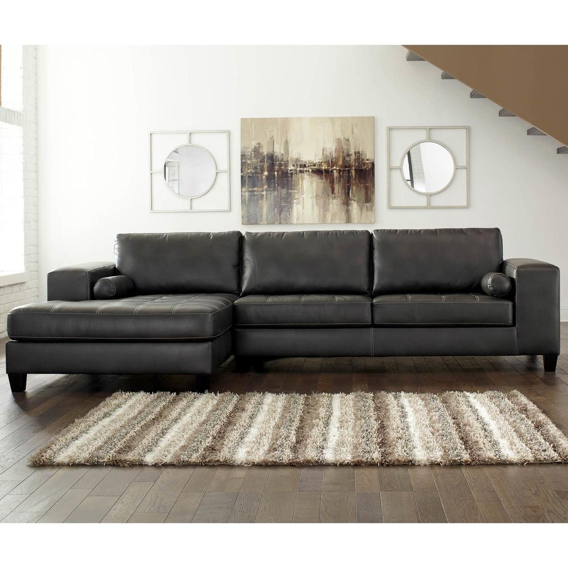Signature Design By Ashley Nokomis 2 Pc Raf Sofa Sectional W Laf  ~ Ashley Laf Sofa Sectional