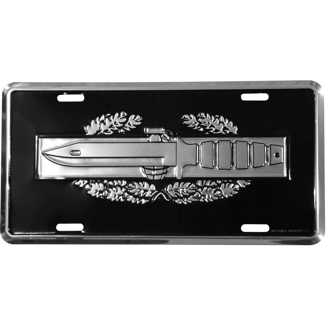 Mitchell Proffitt Combat Action Badge Black License Plate