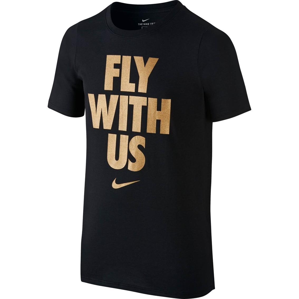 4716401d87 Nike Boys Fly With Us Dry Basketball Tee | Boys 8-20 | Apparel ...