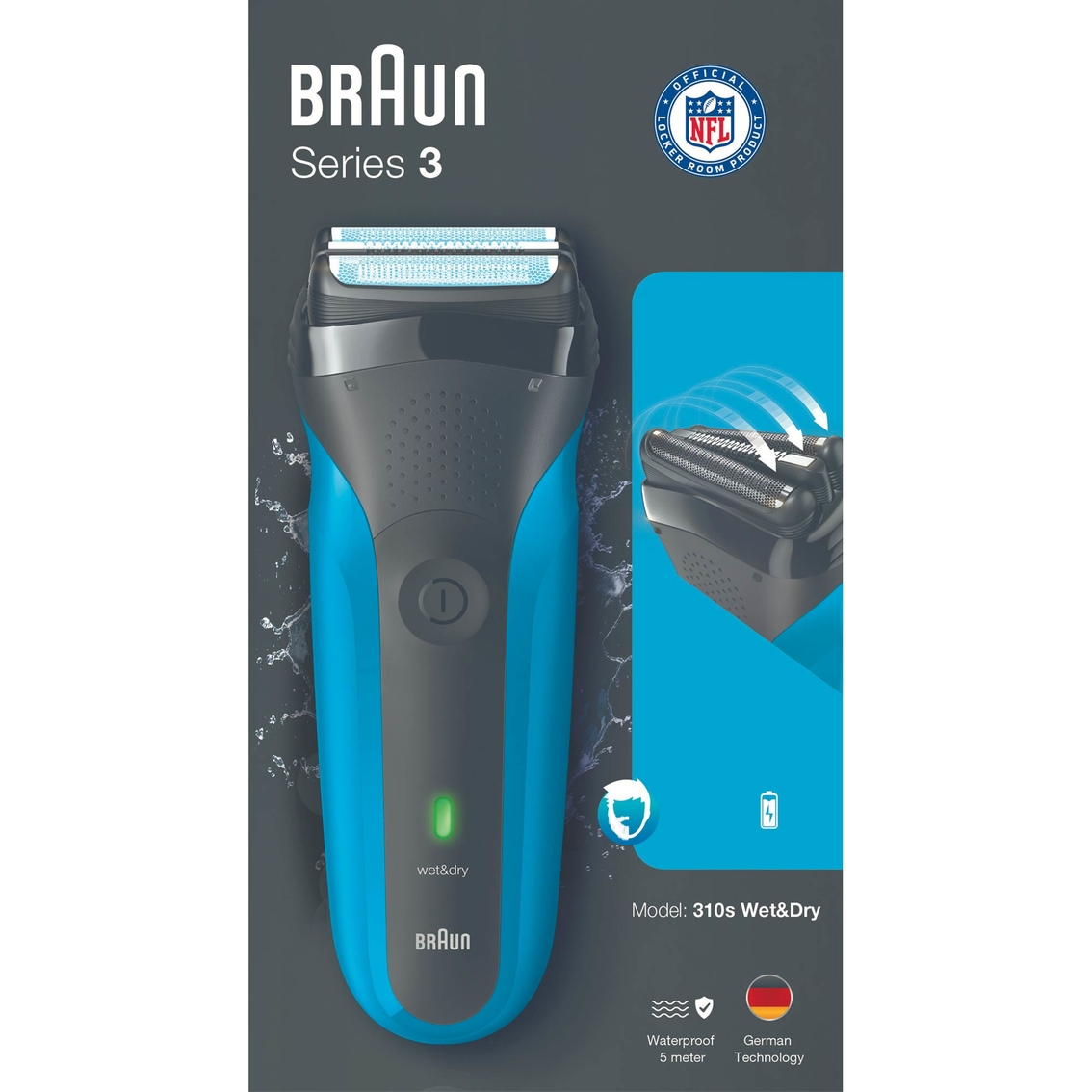 Braun Series 3 Wet Dry Rechargeable Electric Shaver For Men