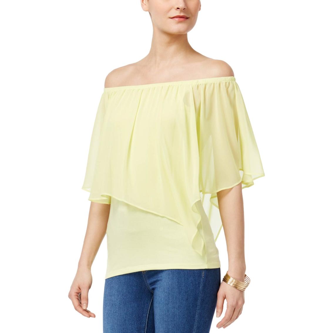 420204145b52d Thalia Sodi Convertible Off-the-shoulder Top