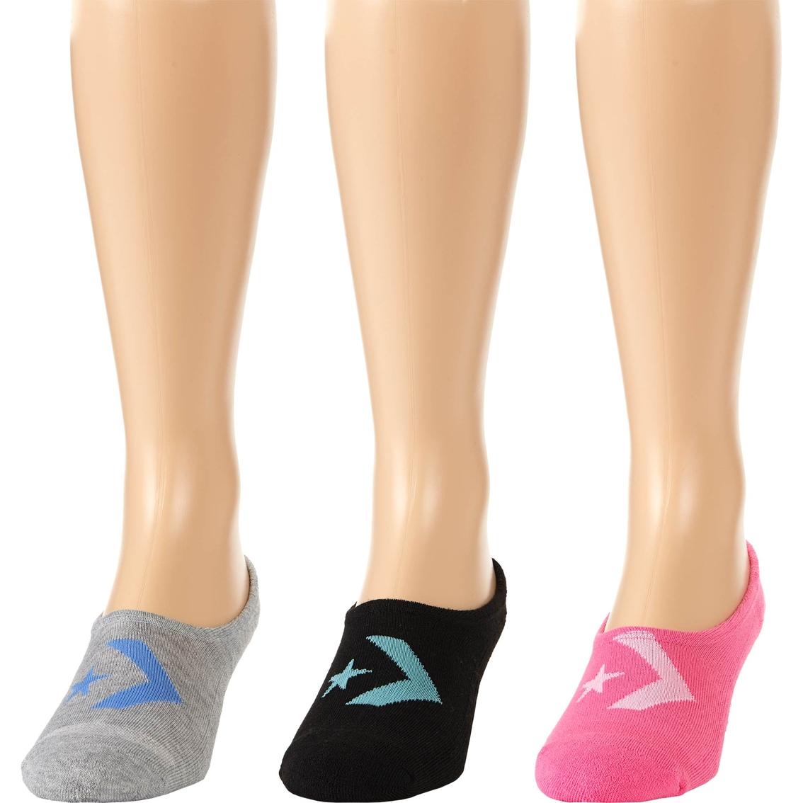 f0febb5c22d0 Converse Women s Made for Chucks Chevron Ultra Low Hidden Liner Socks 3 Pk.