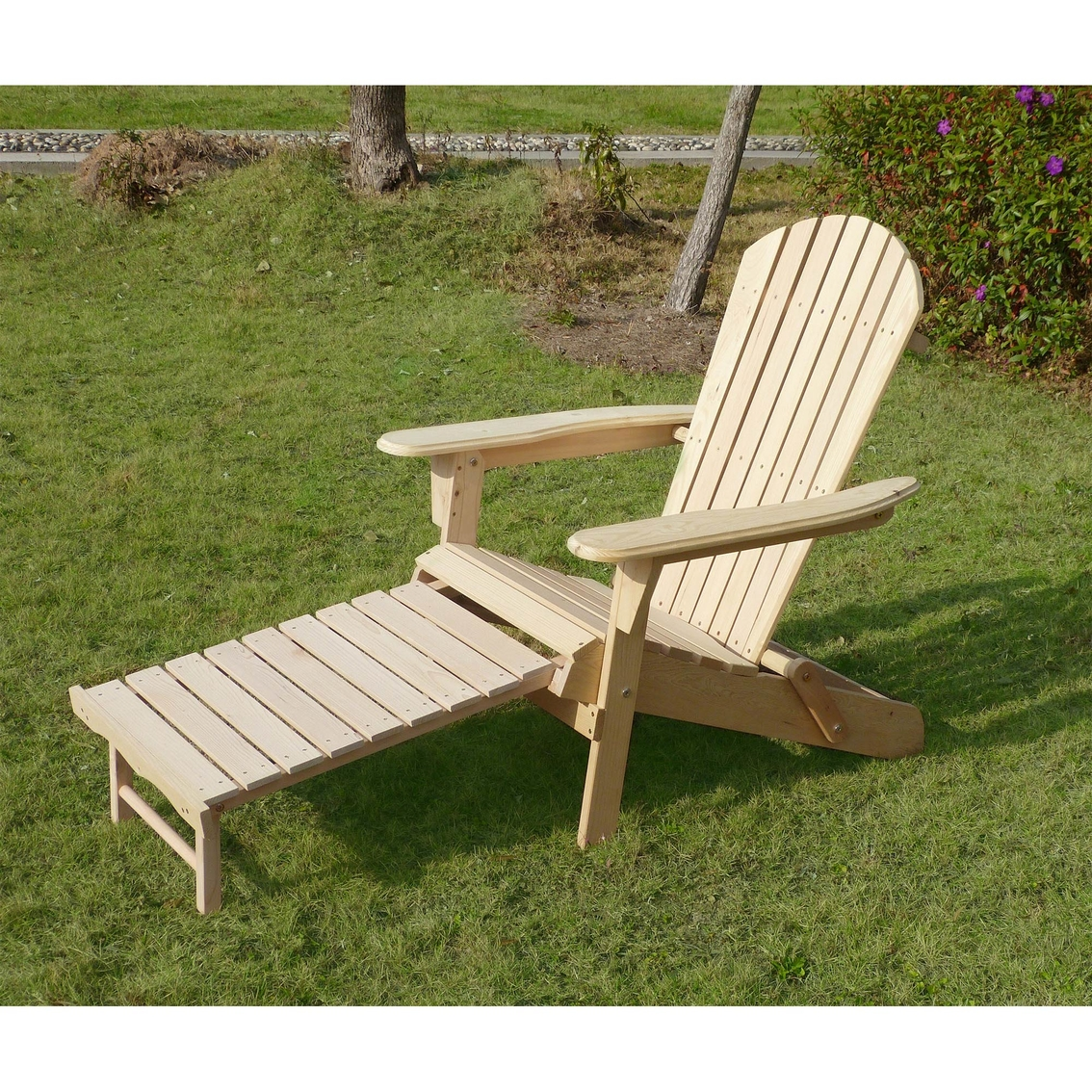 Super Northbeam Adirondack Chair Kit With Pullout Ottoman Gmtry Best Dining Table And Chair Ideas Images Gmtryco