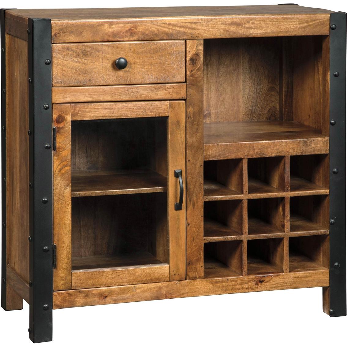 Ashley Furniture Glosco Kitchen Hutch: Signature Design By Ashley Glosco Wine Cabinet With Door