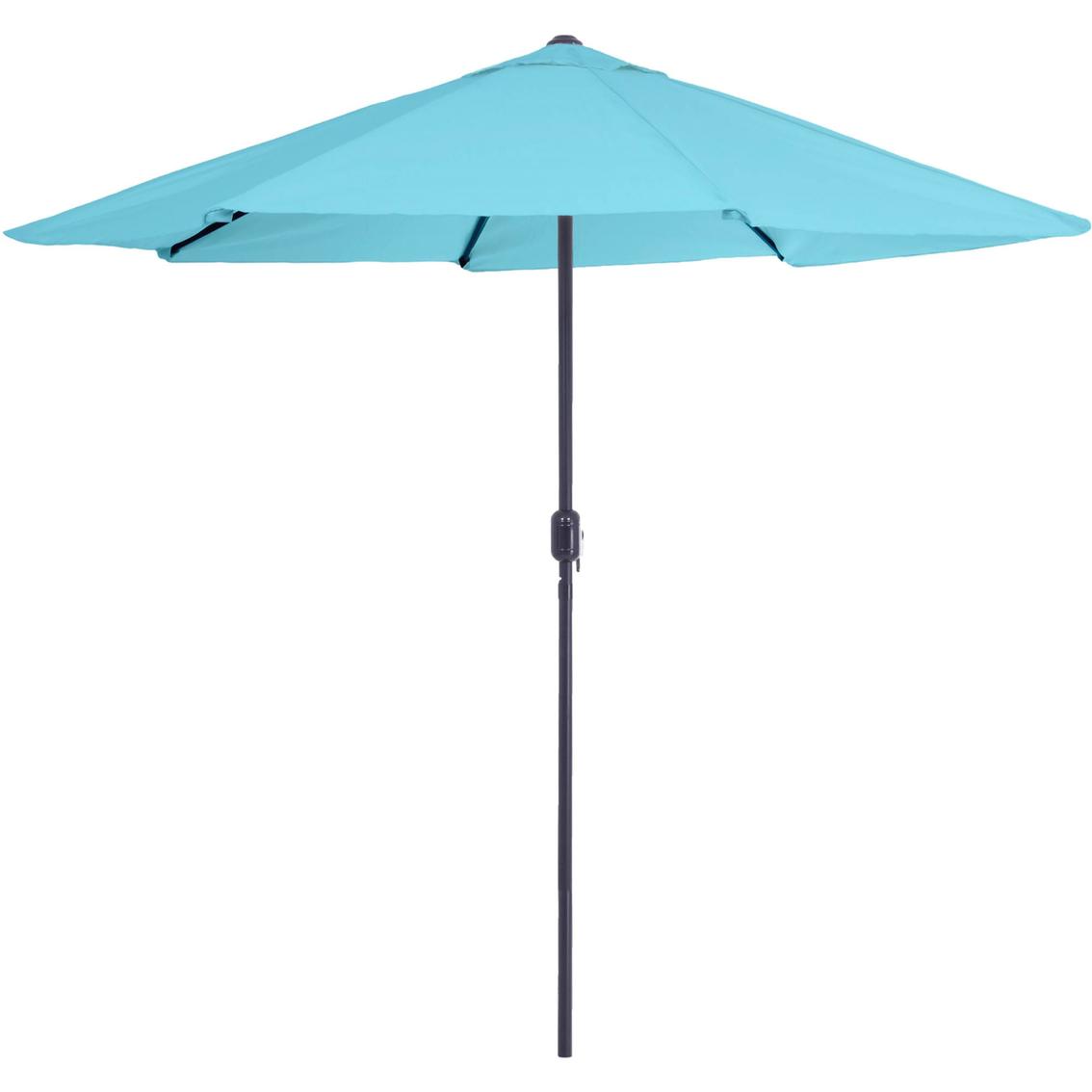 Pure Garden 9 Ft Aluminum Patio Umbrella With Auto Crank Table