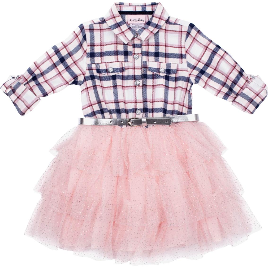 4e19db78c0624 Little Lass Toddler Girls Lurex Flannel Dress | Toddler Girls 2t-4t ...