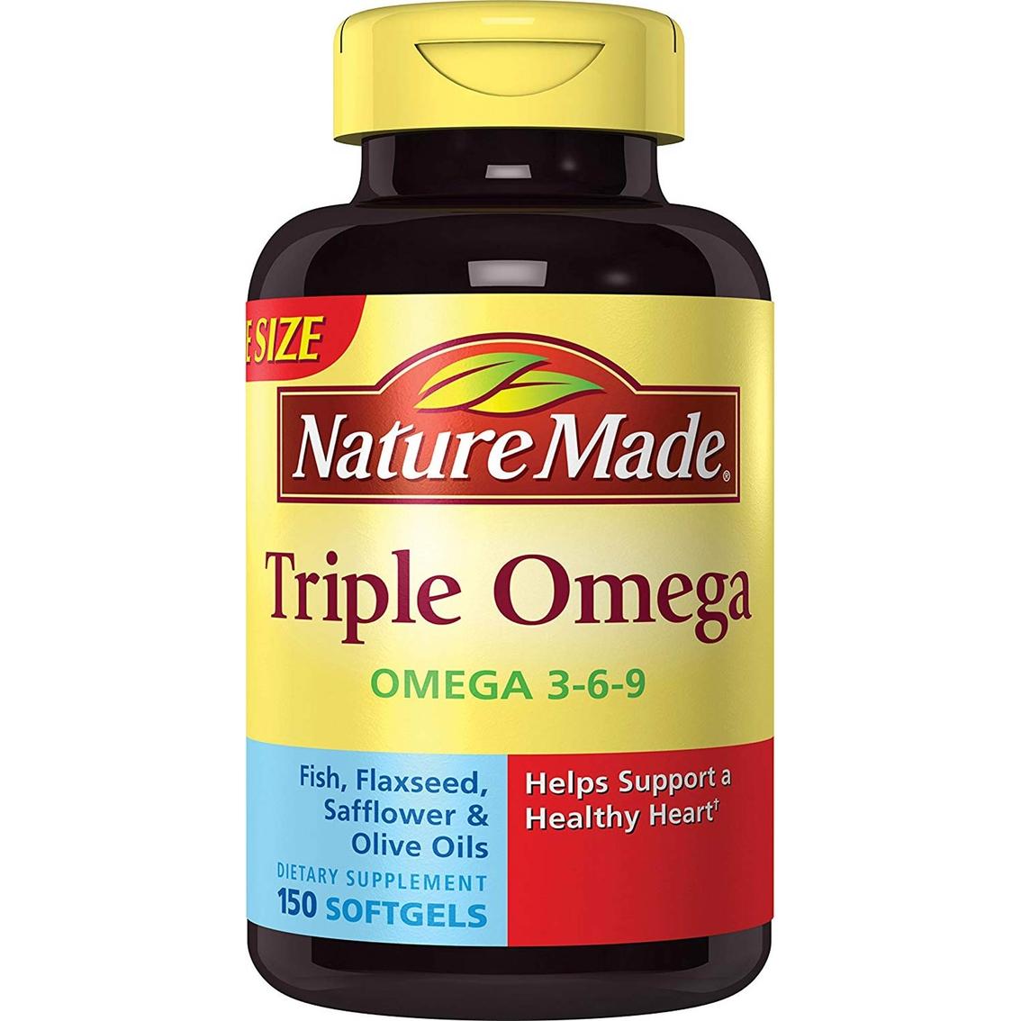 Nature Made Triple Omega 3 6 9 Softgels 150 Ct Vitamins