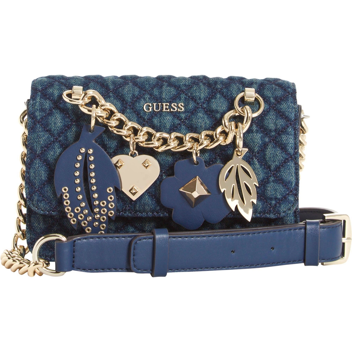 Guess Stassie Quilted Denim Mini