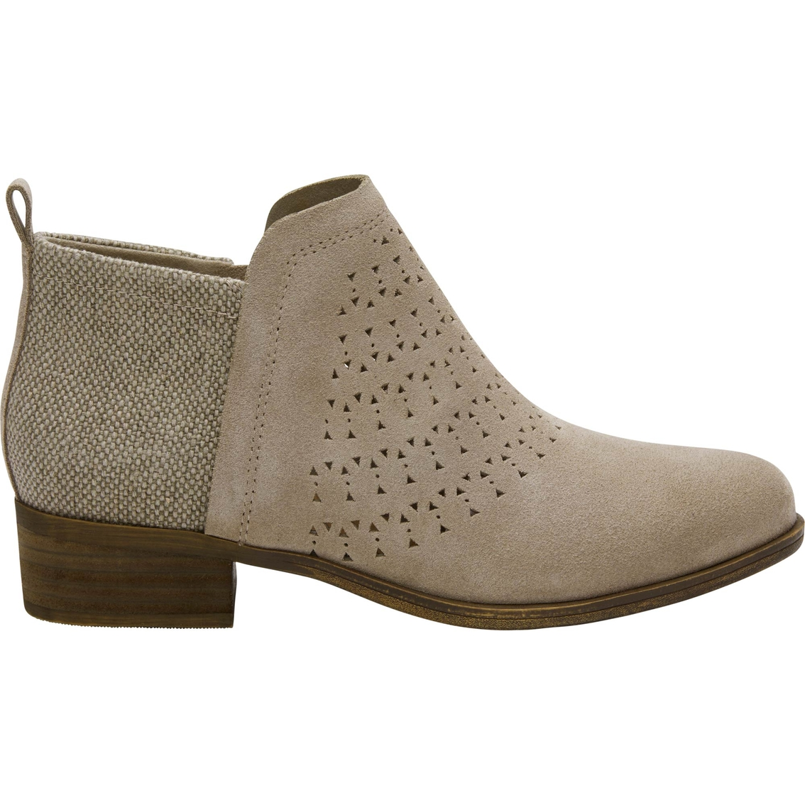 f31cca43452 Toms Perforated Suede Deia Booties