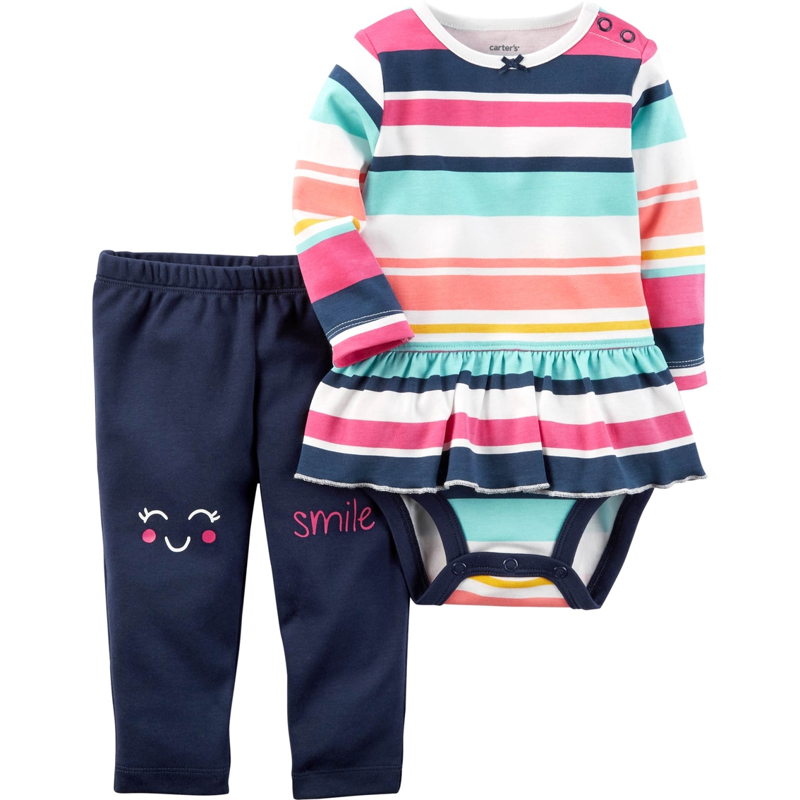 Carter's Infant Girls 2 Pc. Striped Bodysuit Pant Set | Baby Girl 0-24  Months | Baby & Toys | Shop The Exchange