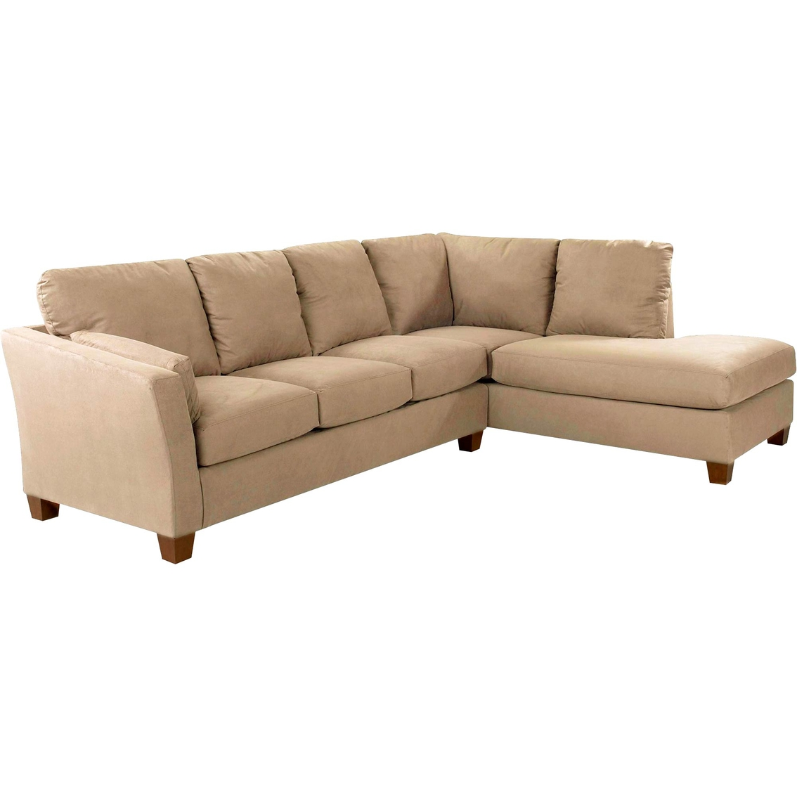Klaussner Two Piece Drew Sectional In Libre Taupe Sofas