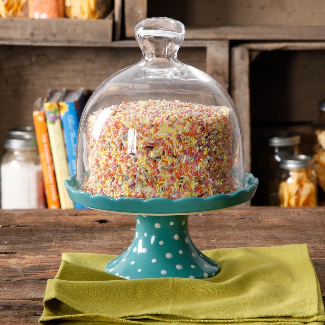 Pioneer Woman Flea Market Round Mini Cupcake Stand with Lid & Pioneer Woman Flea Market Round Mini Cupcake Stand With Lid | Cake ...
