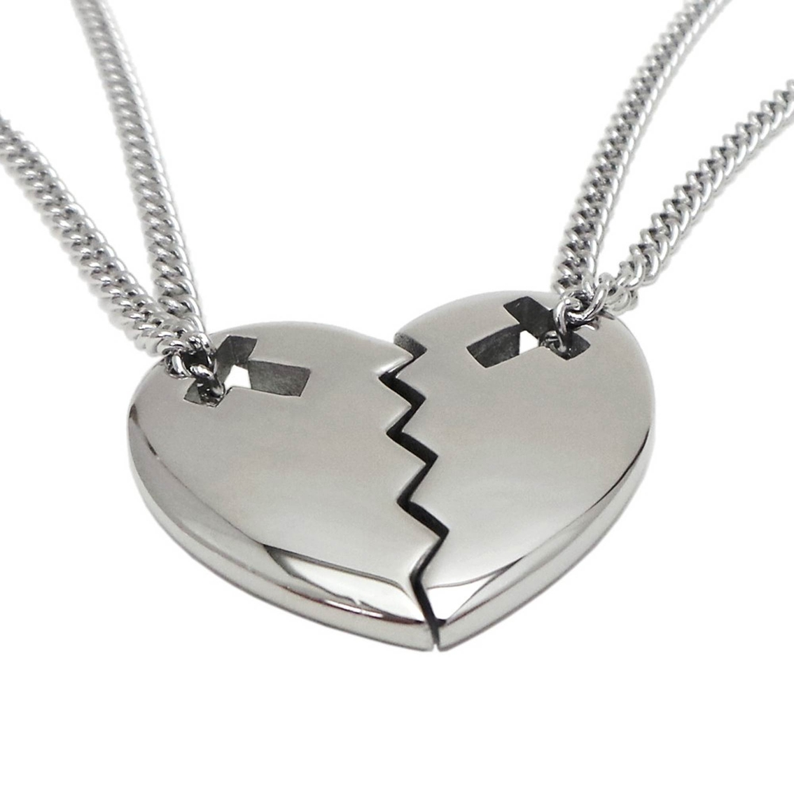 Shields of strength friends stainless steel heart cross for Stainless steel jewelry durability