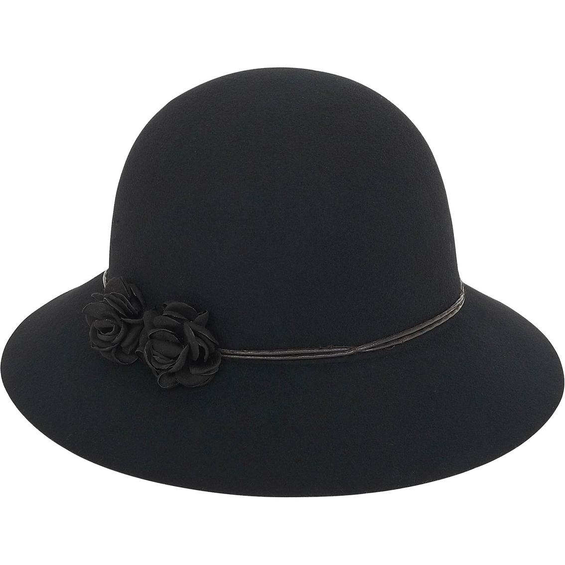 Adora By Sun N Sand Cloche With Floral Trim Hat 2.75 In. Brim  c3da5b32c04