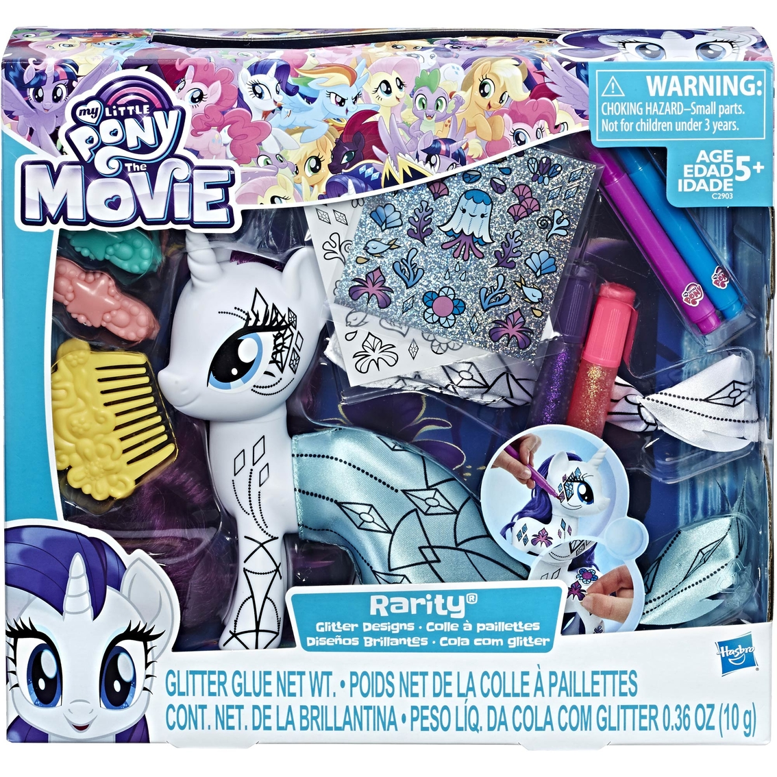 - My Little Pony The Movie Rarity Glitter Designs Coloring