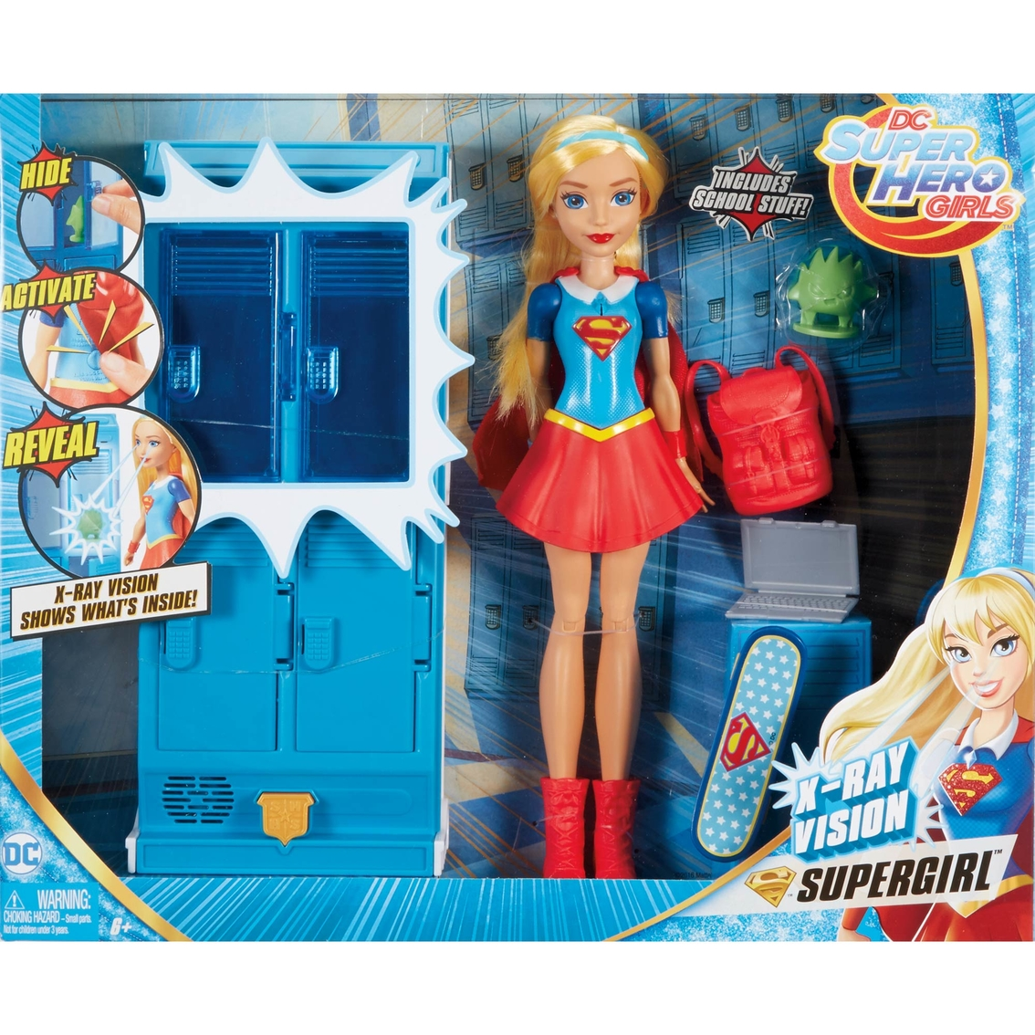 Mattel Dc Super Hero Girls Supergirl Locker Accessory   Doll ... 34feaa3214