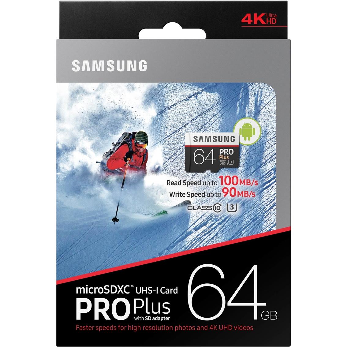 Samsung 64gb Pro Plus Class 10 Micro Sdxc With Adapter Sd Memory Team Xtreem U3 90mb S