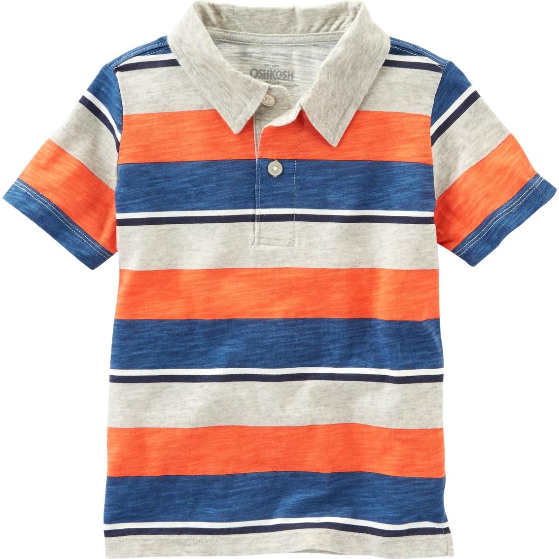 Oshkosh B\'gosh Little Boys Striped Jersey Polo Shirt | Boys 4-7x ...