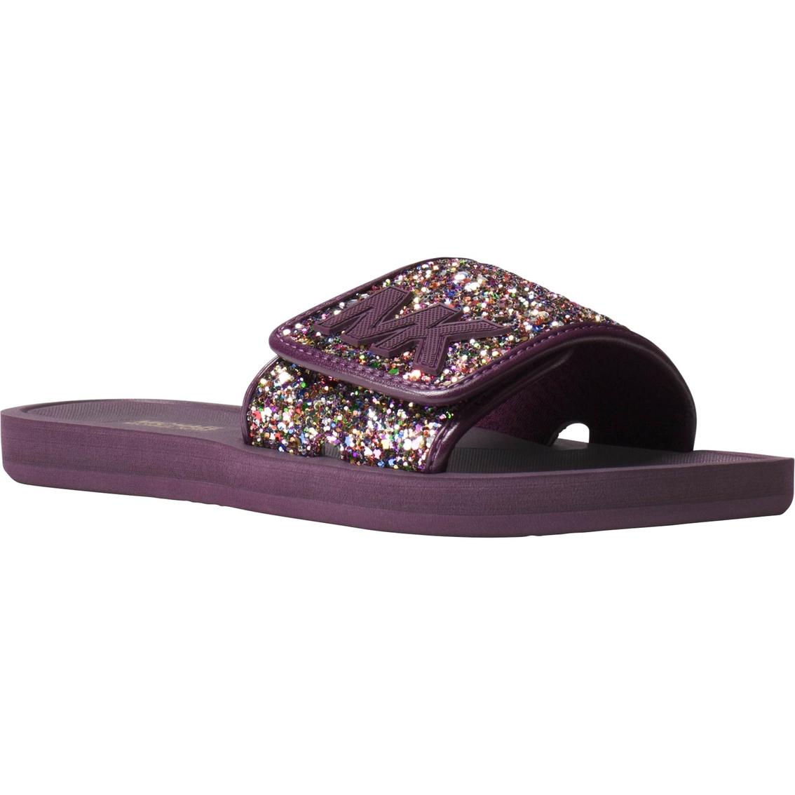 2b20bc8e22ff Michael Kors Mk Chunky Glitter Slides