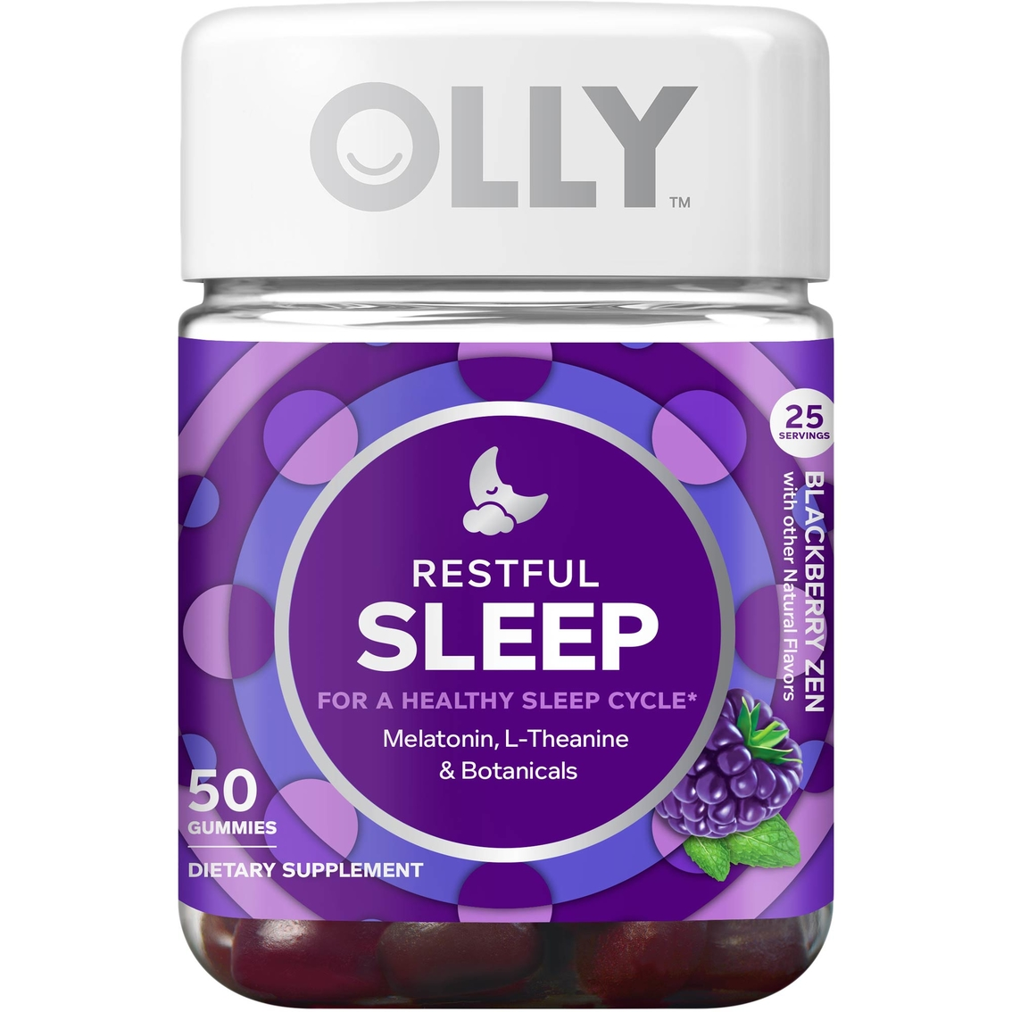 Olly Restful Sleep Gummy Vitamin 50 Ct Sleeping Snoring