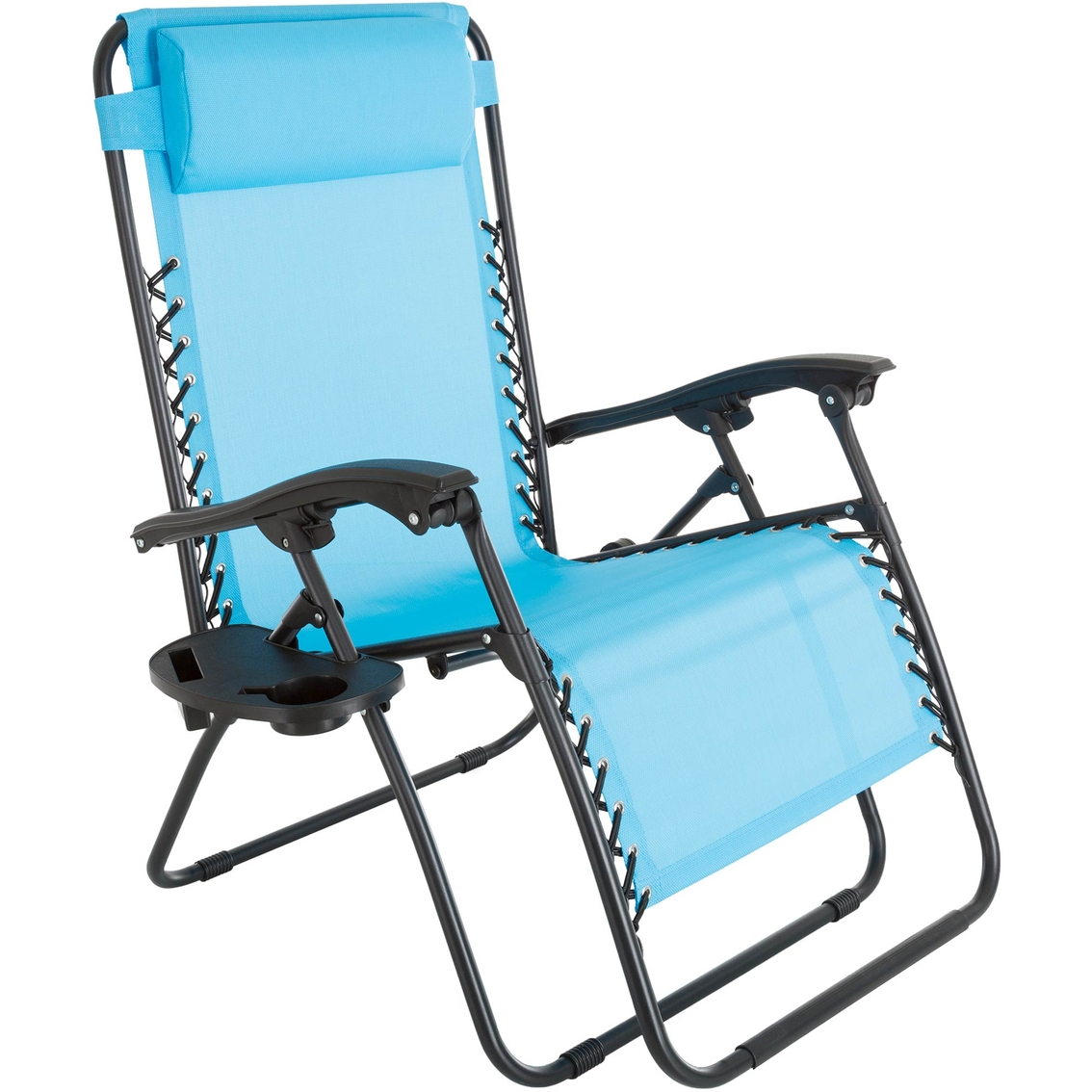 Pure Garden Oversized Zero Gravity Chair With Pillow And Cup