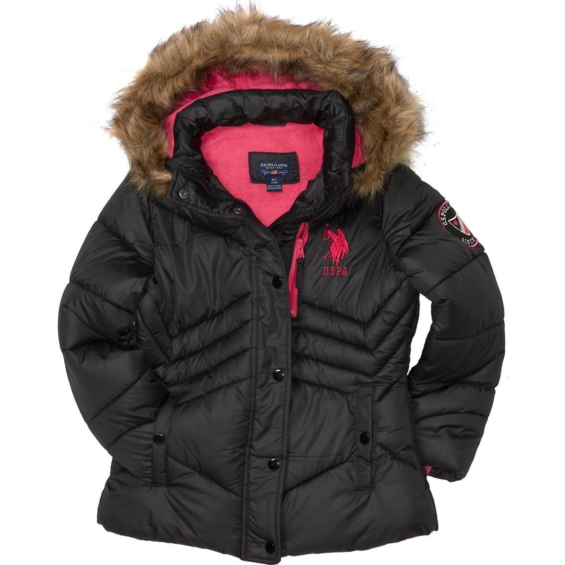 Girls Bubble Jacket U.S Polo Assn