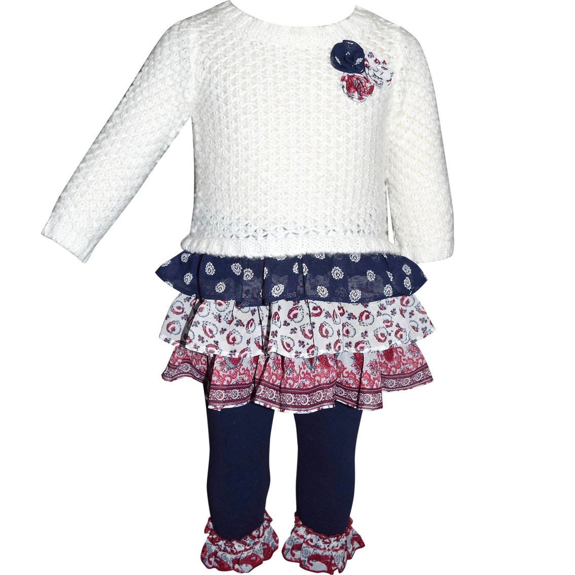 e537ffcc7a0b Blueberi Boulevard Infant Girls 2 Pc. Tiered Sweater Dress And ...