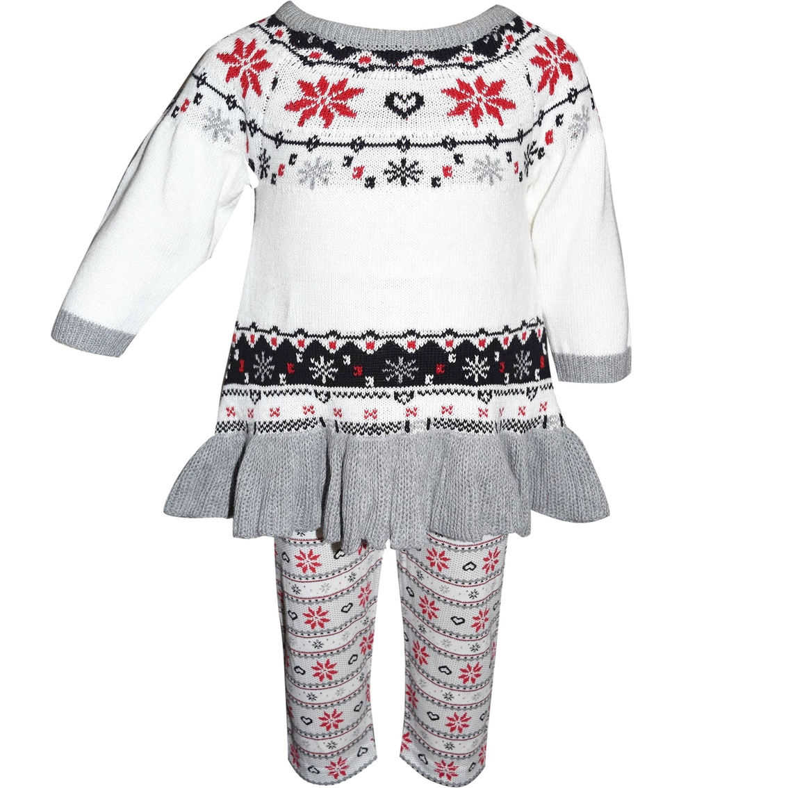 73da4d5b3 Blueberi Boulevard Infant Girls 2 Pc. Fair Isle Sweater Dress And ...
